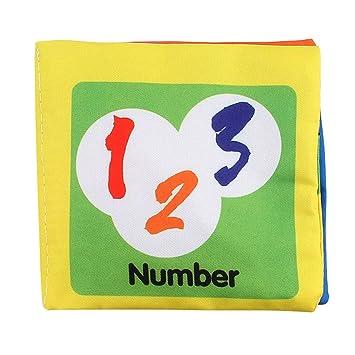 amazemarket Weich aus Stoff Baumwolle Baby Bücher aus Stoff Beißring bruissaient Papier Puzzle Gute Stunde Bildung Entwicklun