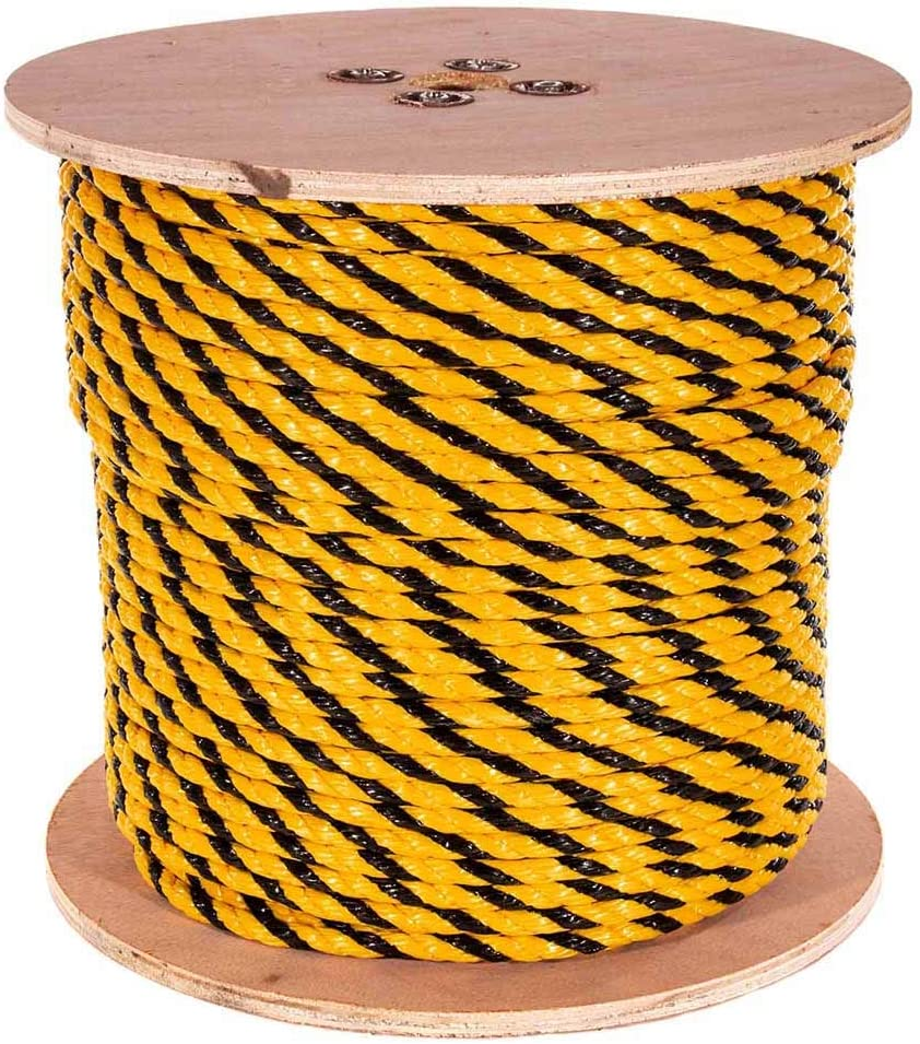 10 ft /– 1200 ft GOLBERG Twisted Polypropylene Rope Nautical Chemical Moisture Marine GOLBERG G 1//4, 5//16, 3//8, 1//2, 5//8, 3//4 Rot Resistant Oil
