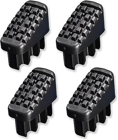Hailo 9920-001 - Pack de 4 tacos, largueros delanteros y traseros, para las escaleras domésticas de aluminio Hailo.: Amazon.es: Bricolaje y herramientas