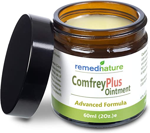 Remedinature Comfrey Plus Ointment, Natural Body Muscle Joint Skin Balm, 2 Ounce