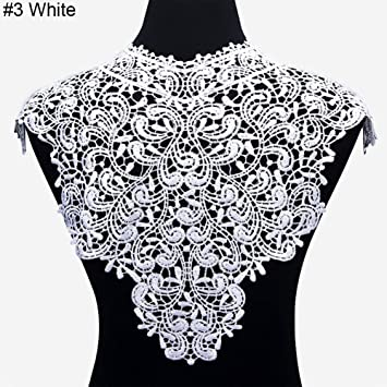 Applique Lace Fabric Sewing Embellishments Trims DIY Neck Collar Crafts Decors