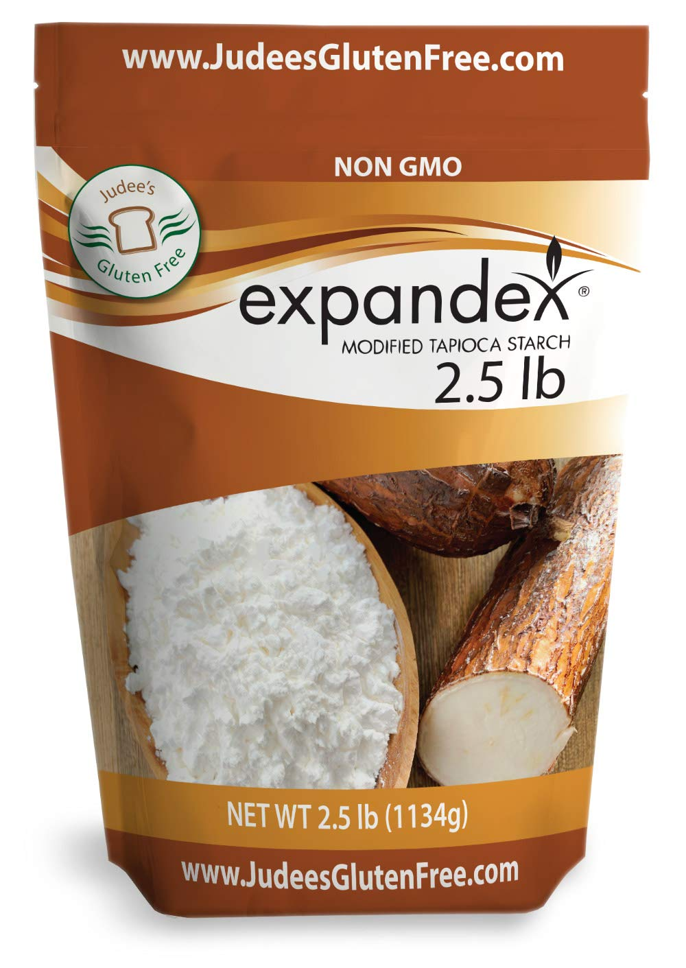 Judee's Expandex Modified Tapioca Starch 2.5 lb (40 oz) - Gluten Free-Non-GMO, USA Packaged, & Filled in a Dedicated Gluten & Nut Free Facility