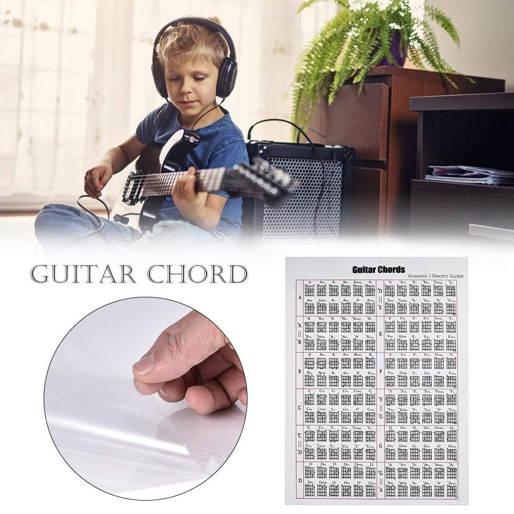 Electric Guitar Chord Poster Sticker Accesorios para Instrumentos de Teclado para Todos los guitarristas certainoly Muspor Ballad