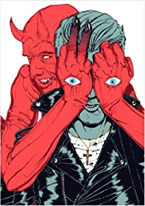 PDFKE Queens of The Stone Age 2017 Villains Canvas Painting Pictures Wall Art Posters Imprimir en Lienzo para Sala de Estar Decoración para el hogar Regalo -20x30 Pulgadas Sin Marco 1 PCS