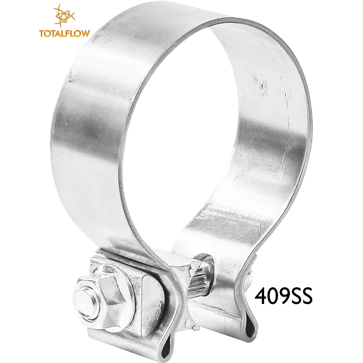 TOTALFLOW 3 TF-J60 304 Stainless Steel Lap Joint Exhaust Muffler Clamp Band-3 Inch