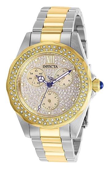 Invicta 28433 Angel Reloj para Mujer acero inoxidable Cuarzo Esfera oro: Amazon.es: Relojes
