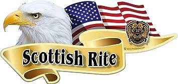 "3/"" x 5/"" American Texas Flags Masonic Decal Sticker USA ProSticker 078 One"