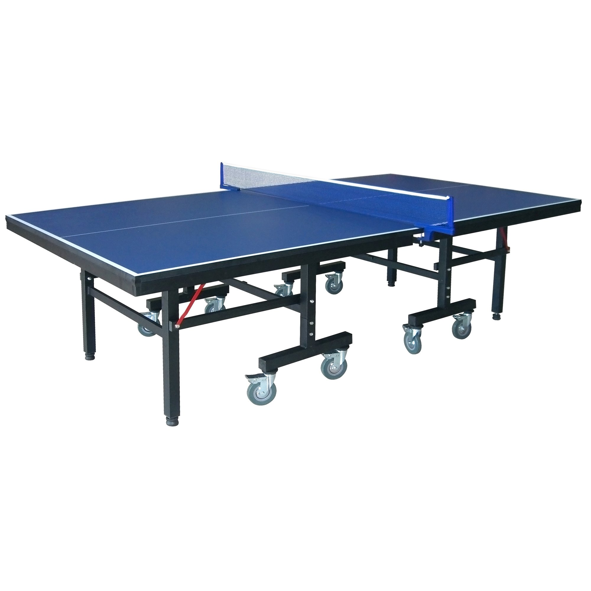 """Hathaway Victory Professional 9' Table Tennis Table with 25mm Thick Surface, 2"""" Steel Supports, Free Paddles, Balls and Net"""