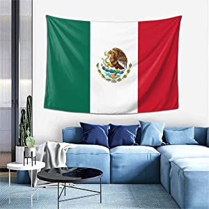 Wall Decoration Tapestry - Mexican Flag Hippie Art Tapestry Wall Hanging - Extra Large Tablecloths 60 X 40 Inch for Bedroom Living Room Dorm Room Home Decor