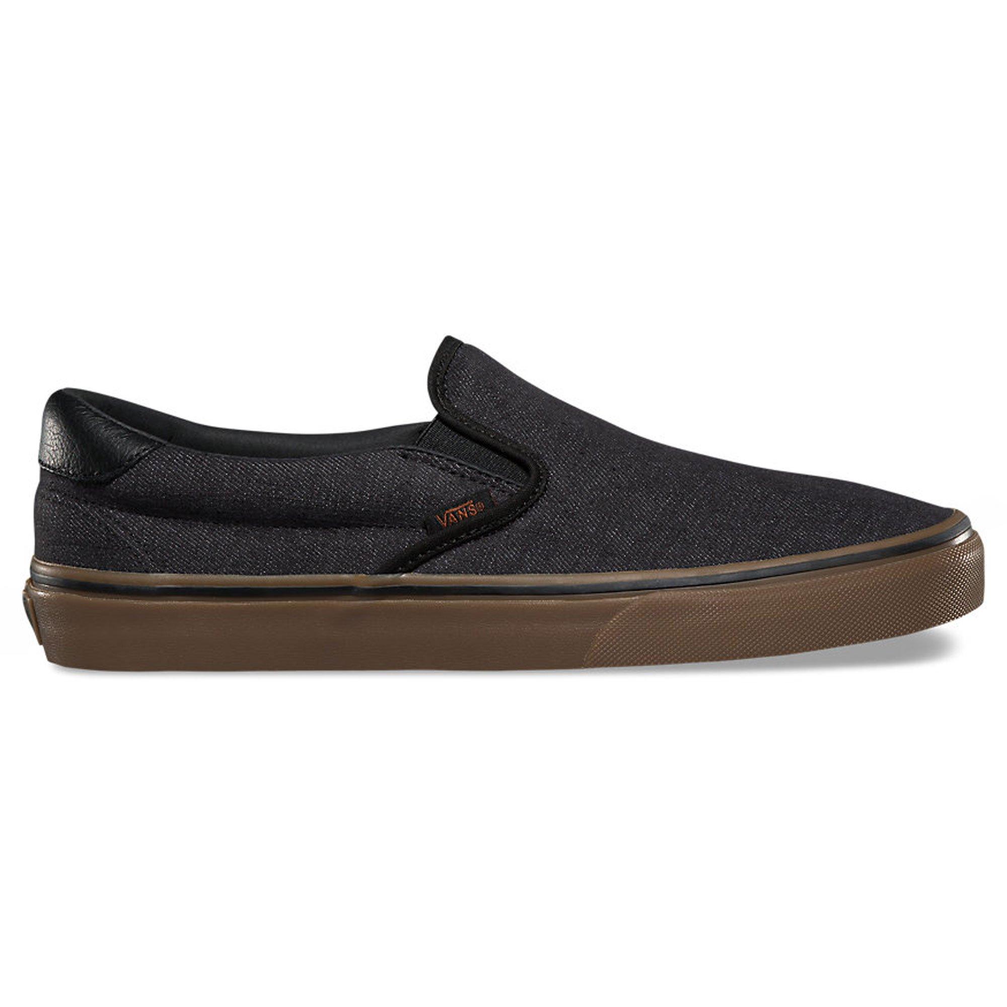 Vans Unisex Slip-On 59 (Denim C&L) Black/Gum Skate Shoe 9 Men US / 10.5 Women US