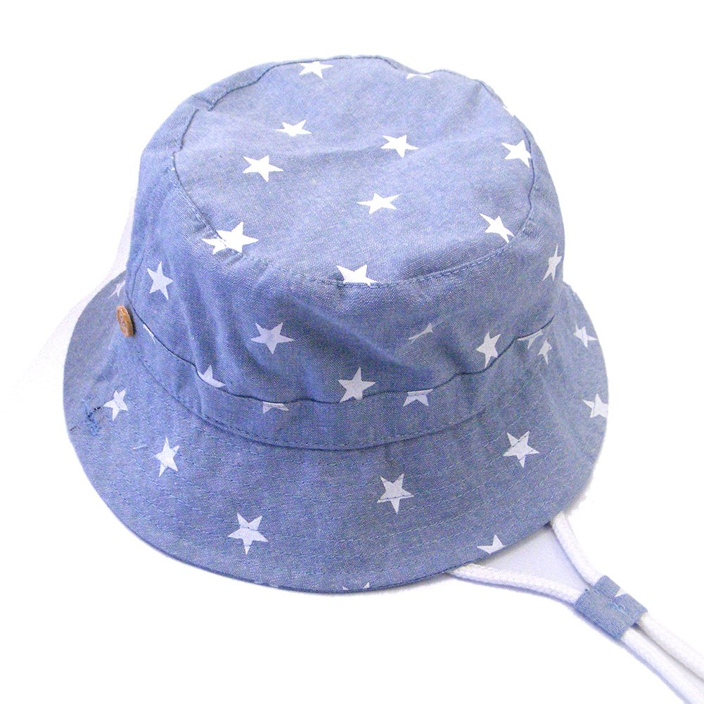 Lvaiz Baby Boys Bucket Summer Sun Hat Toddler Kids Breathable Foldable Cotton UV Sun Protection Hats