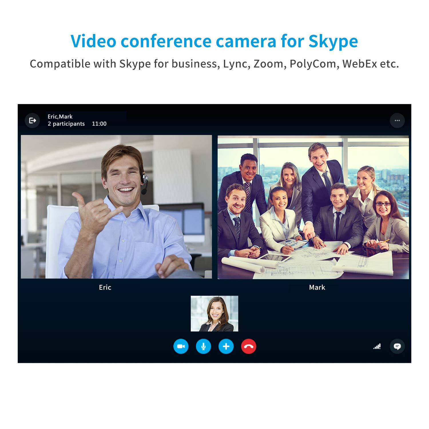 TENVEO Conference Cam 3X optical zoom Full HD 1080p USB2 0 PTZ video