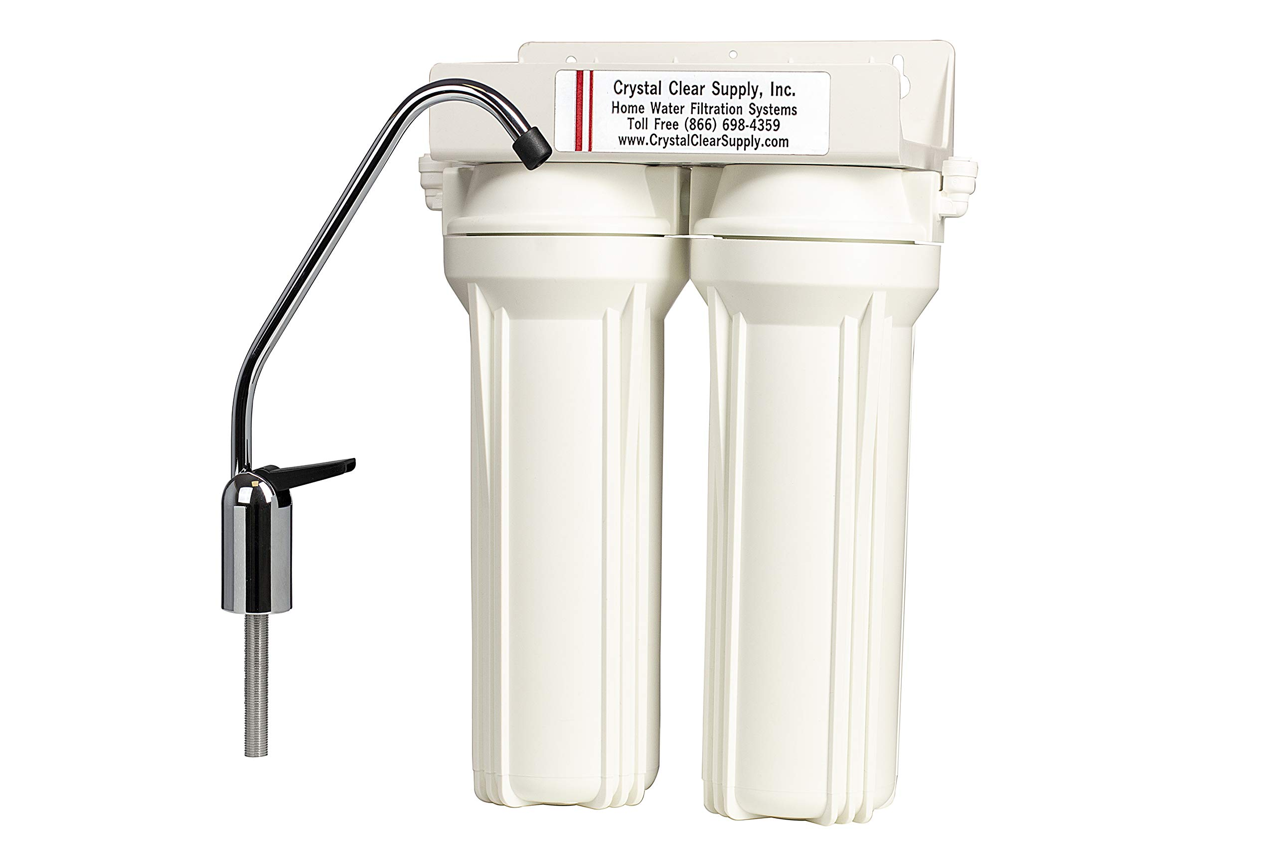 Fluoride Lead Chlorine Removal Undercounter Water Filter System KDF & GAC Leaves Beneficial Minerals