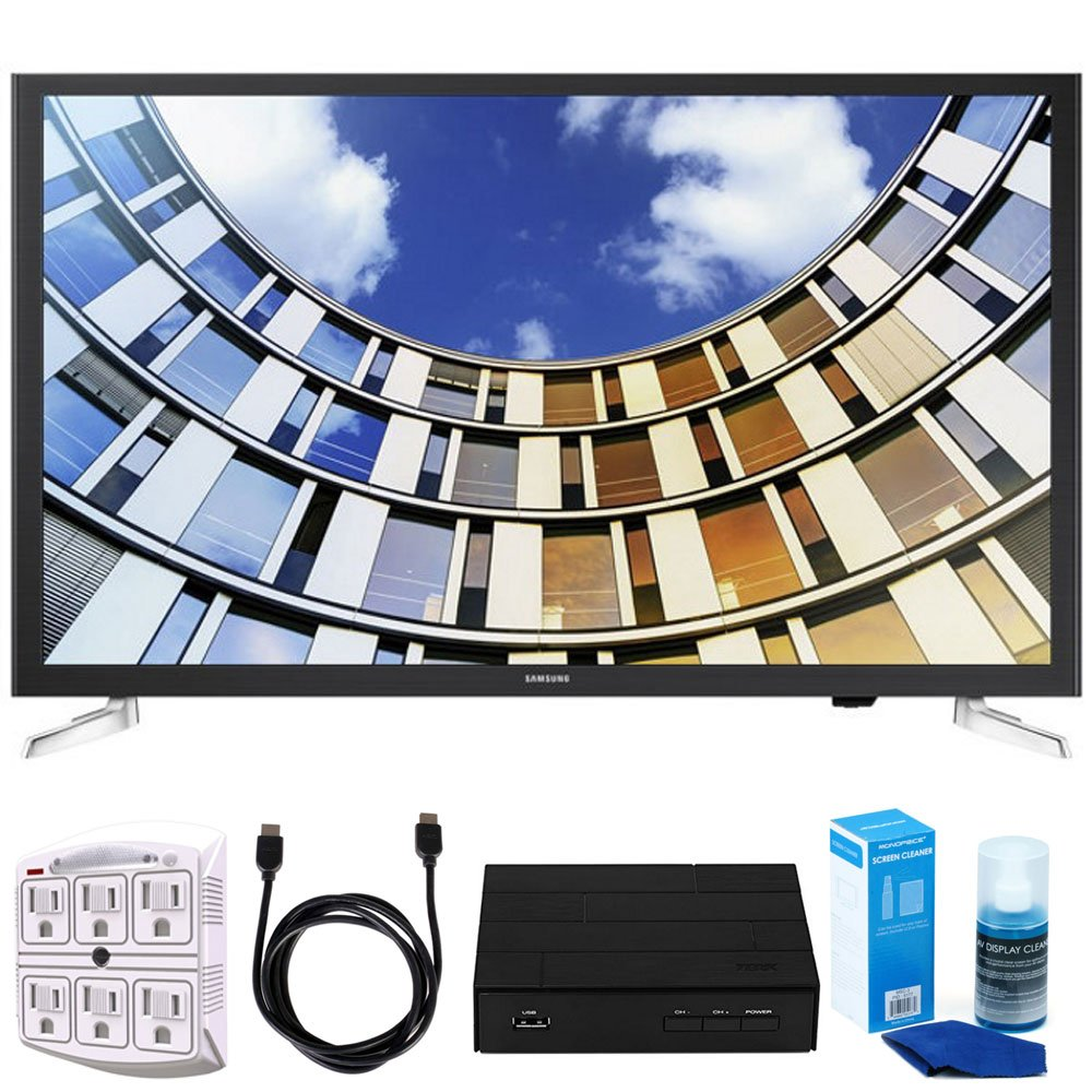 Samsung 32'' LED 1080p 5 Series Smart TV (2017 Model) Bundle includes TV, 6ft High Speed HDMI Cable, Screen Cleaner, SurgePro 6 NT 750 Joule 6-Outlet Surge Adapter, and HD Digital TV Tuner w/ Recording by Samsung