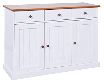 H24living Kommode Sideboard Anrichte Schrank Massivholz Amazon De