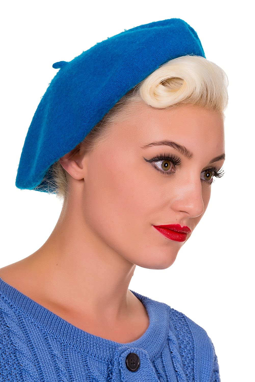 1950s Women's Hat Styles & History Banned Claire Vintage Retro Beret Hat $15.95 AT vintagedancer.com