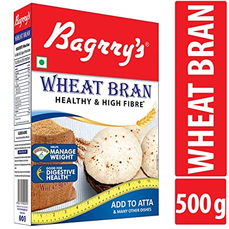 Bagrry's Wheat Bran Healthy & High Fibre Box, 500g