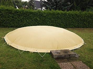Lona hinchable para piscina, redonda, diámetro 4, 60 m, color: arena, cubierta de aire, impermeable, resistente a la rotura: Amazon.es: Jardín