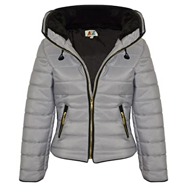 53fd0388b1b1 A2Z 4 Kids® Girls Jacket Kids Stylish Padded Silver Puffer Bubble ...