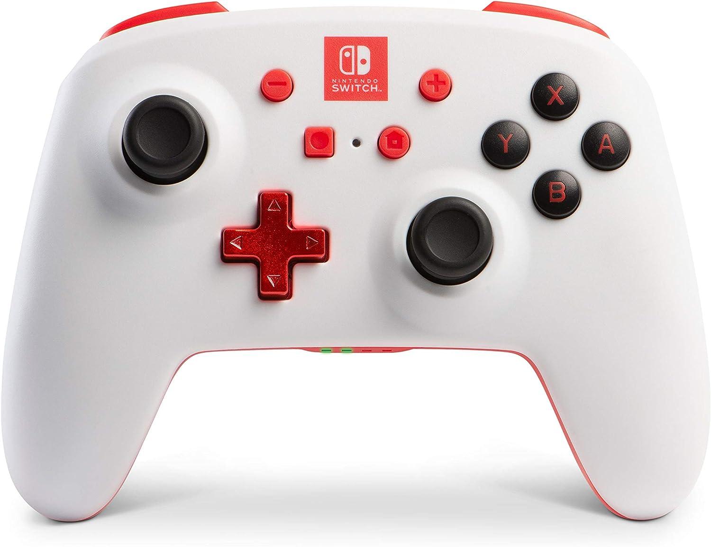 Mando inalámbrico mejorado PowerA para Nintendo Switch. Blanco ...