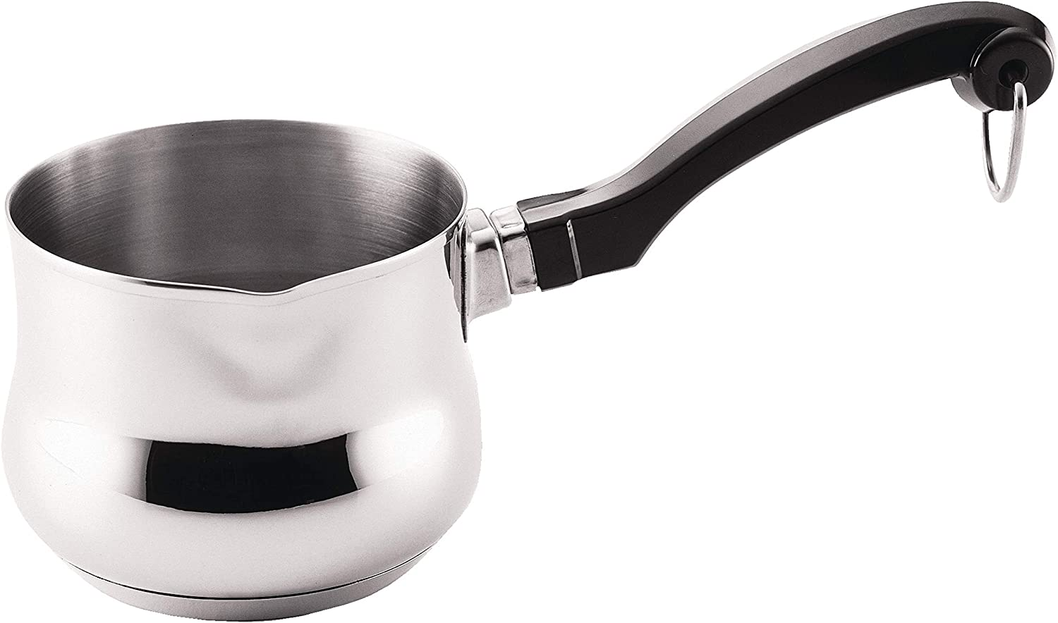 Farberware Classic Series Stainless Steel Butter Warmer/Small Saucepan Dishwasher Safe, 0.625 Quart, Silver