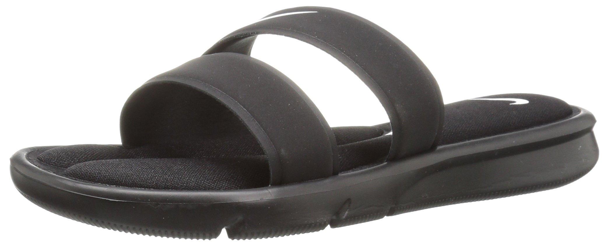 NIKE Women's Ultra Comfort Slide Sandal, Black/White/Black, 10 B(M) US