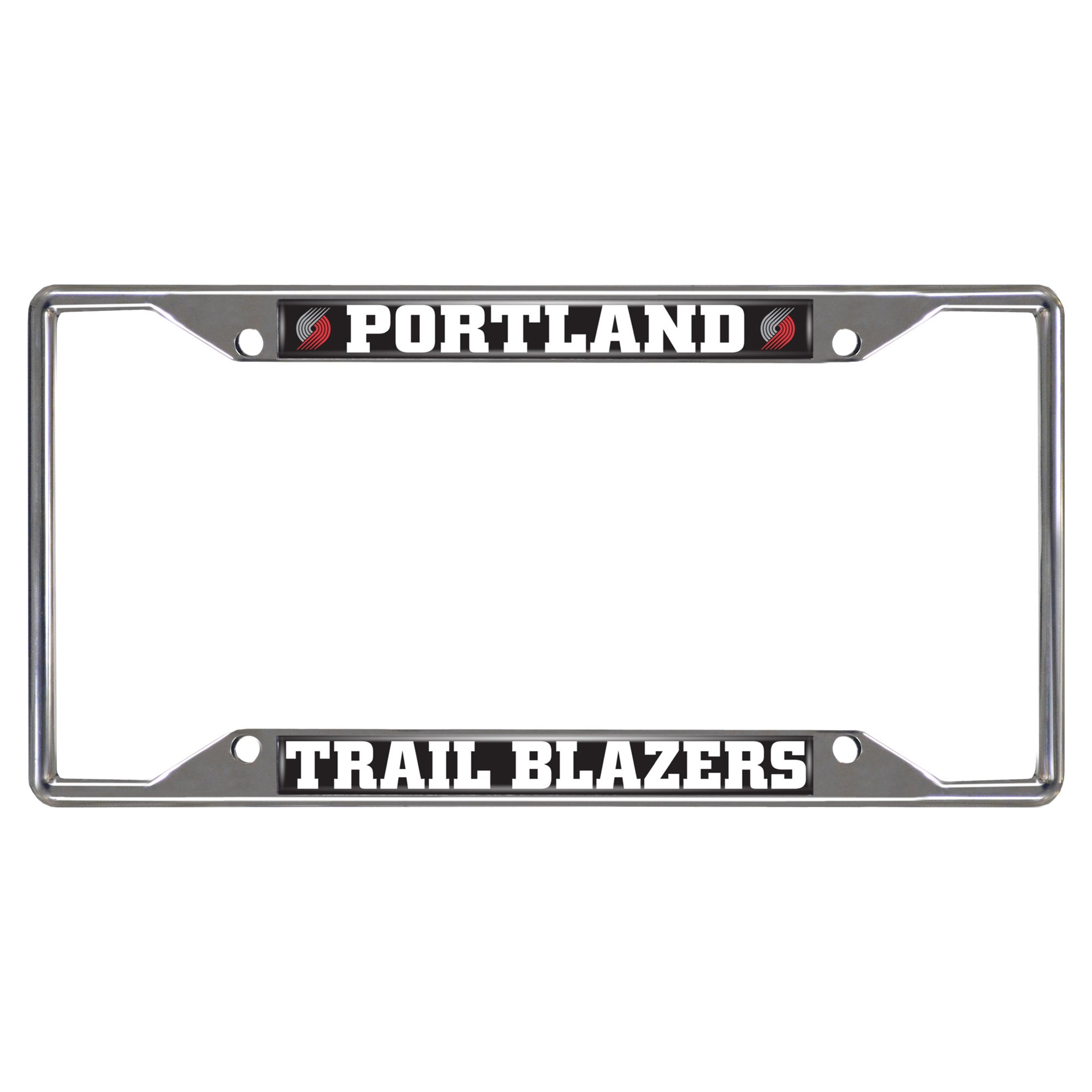 FANMATS NBA Portland Trail Blazers Chrome License Plate Frame by Fanmats