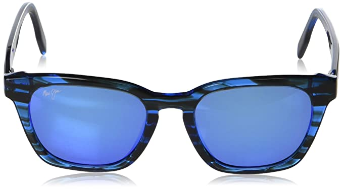 dc9e4c664c1 Amazon.com: Maui Jim Shave Ice B533-86 | Polarized Electric Blue Classic  Frame Sunglasses, 54: Clothing