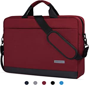 "15.6 Inch Laptop Sleeve Case Waterproof Shockproof Shoulder Bag Compatible with Acer Aspire E 15,Acer Predator Helios 300,ASUS VivoBook F510UA 15.6"",Lenovo HP LG MSI and Most 15.6"" Notebook,Red Wine-2"