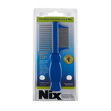 Nix Premium Metal 2-Sided Lice Removal Comb | Designed to Remove Lice and  Nits