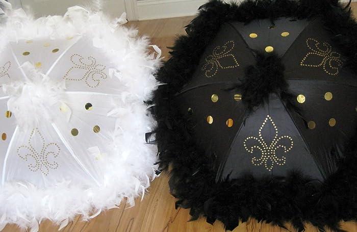 Amazon Com Second Line Fleur De Lis Wedding Umbrellas Set Of 2 New