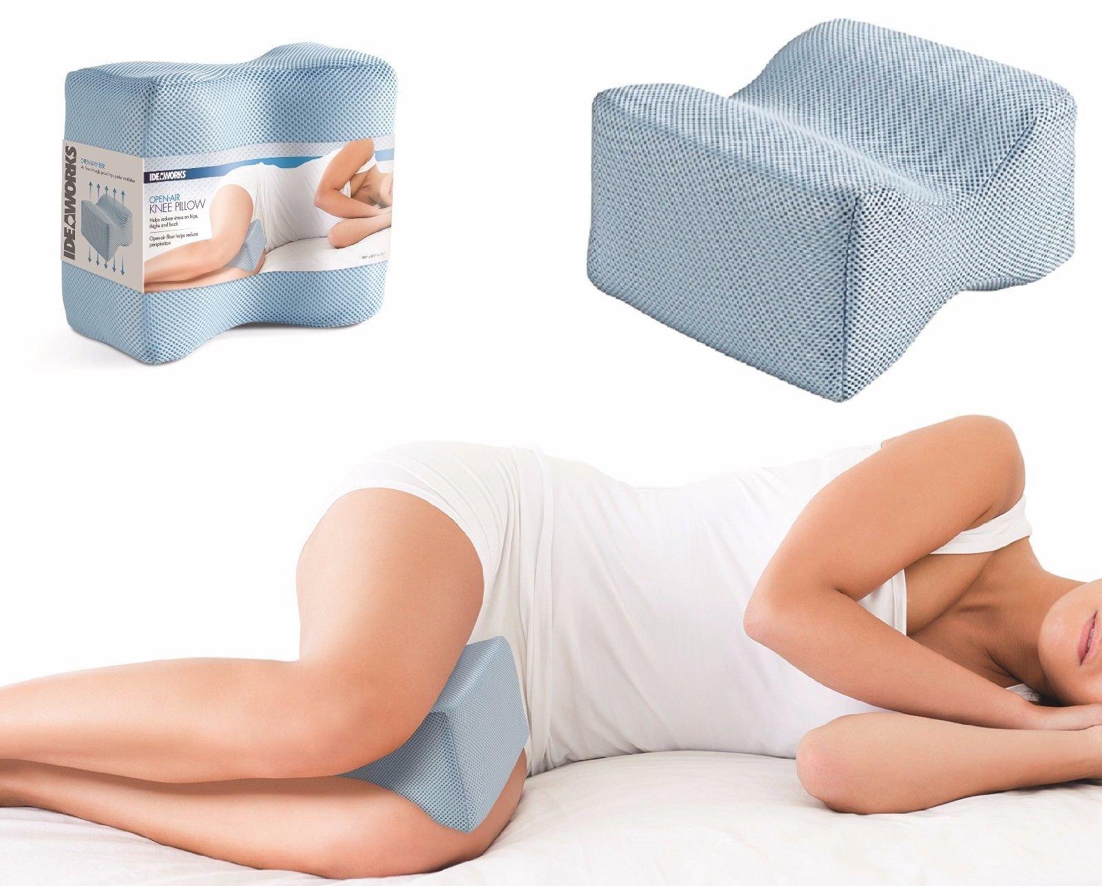 Home Spa Knee Pillow Velvet Foam Orthopedic Contour Knee Hips Thigh Back Relief