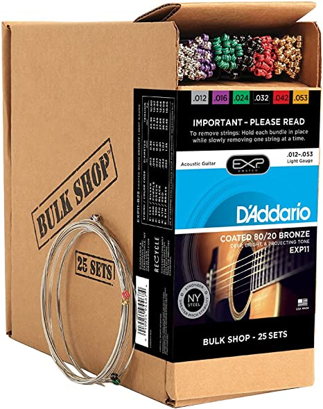 DAddario EXP11-B25 - Juego de cuerdas para guitarra acústica de ...