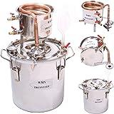 Moonshine Stills, kit casalingo per distillazione da 10l, in rame, per distillare whisky, alcolici, vino, acqua distillata e olio