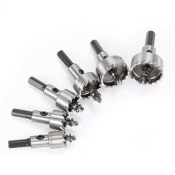 6 Pcs 16-32MM, HSS Broca Agujero Consideró de alta velocidad Perforar plancha de acero inoxidable,hierro,cobre,latón,aluminio,vidrio y otros laminados