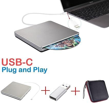 Lector USB-C, lector externo para CD DVD, grabador USB DVD CD, regrabador / grabador / reproductor CD, ...