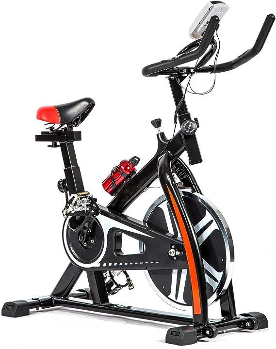 T-LoVendo TLV - BS1 Bicicleta Estatica de Spinning Bici Ejercicio Gym Casa Indoor Volante 10kg: Amazon.es: Bricolaje y herramientas