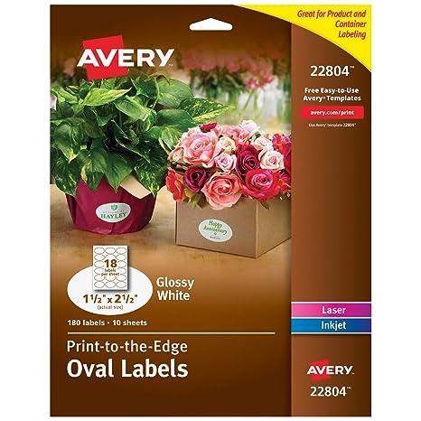 Amazon.com: Avery Easy Peel Print-To-The-Edge Permanente ...