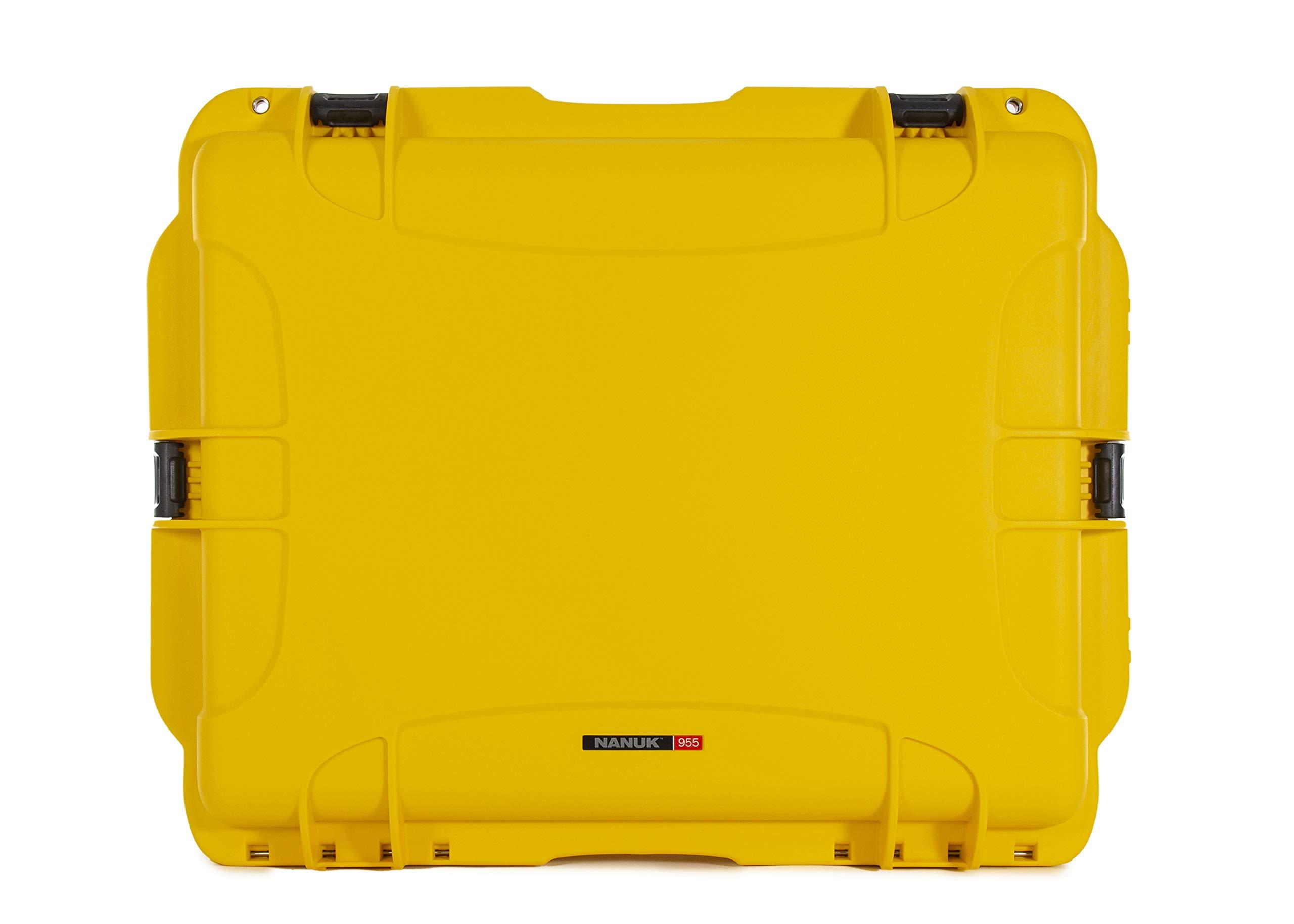 Nanuk 955 Waterproof Hard Case with Wheels and Foam Insert - Yellow by Nanuk