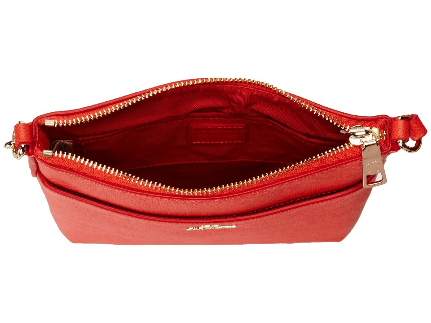 NEW AUTHENTIC COACH CROSSGRAIN TEXTURED LEATHER COURIER CROSSBODY SWINGPACK (Watermelon) by Coach (Image #3)