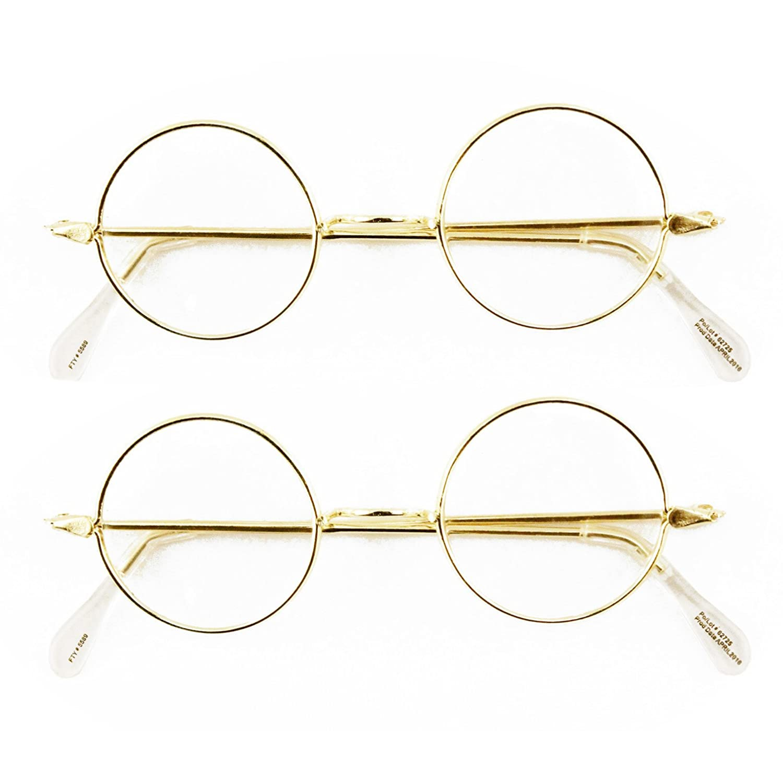 Round Wire Rim Glasses Costume Accessory (2 Pack)