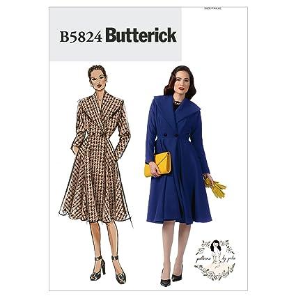Butterick 40 Mujer Abrigo 32 Para Patrones Costura De B5824 tallas Pfnw1Pqv