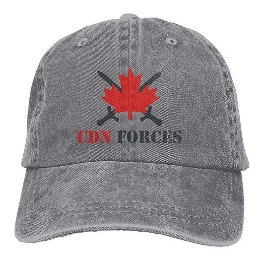 Canadian Forces Cross Printing Cowboy Hat Adjustable Baseball Cap