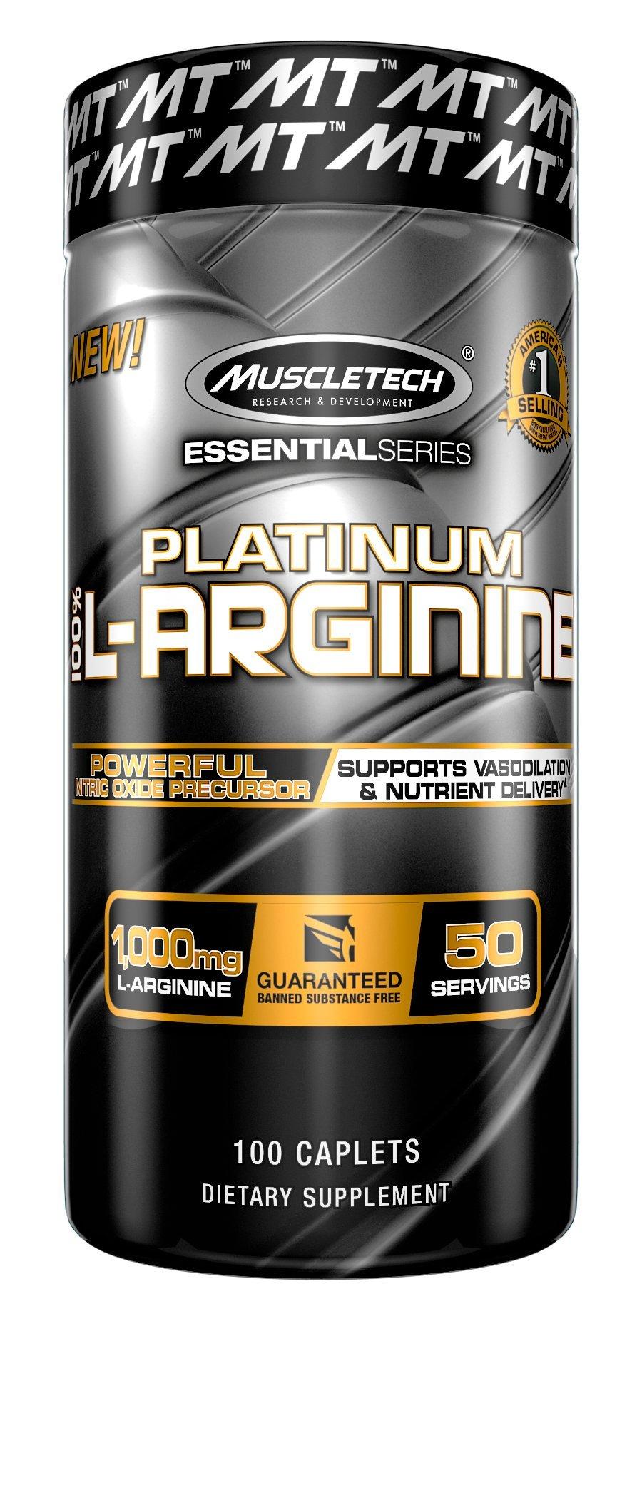 Muscletech Essential Series Platinum Garcinia 120 7 Days Slim Original 100 L Arginine Count