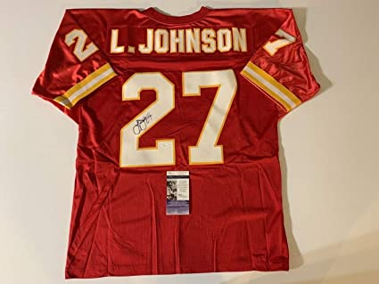 pretty nice 9f1a2 a3850 Larry Johnson Kansas City Chiefs Autographed Signed Red ...