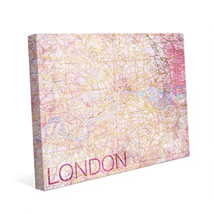 Map Of Downtown London England.Amazon Com City Of London Rose Pink Distressed Vintage Map Of