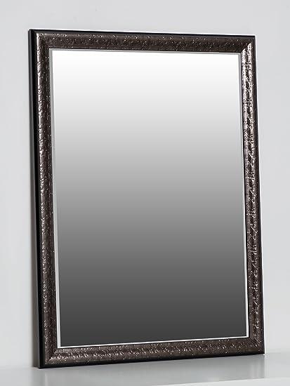 Espejo de pared 80 x 60 cm antracita con elegante y simple marco en ...
