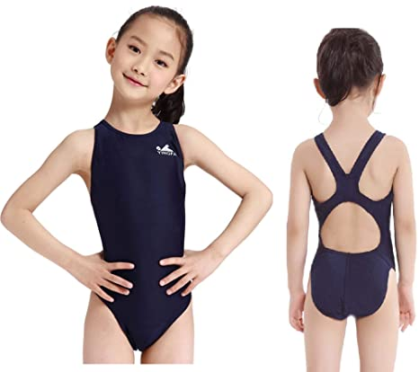 99acad9501 YingFa One Piece Racing Swimsuit for Girls Swimsuit for Competition  Training Swimsuit Girl's Size 6-