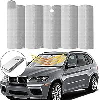 MINLUK Car Windshield Sunshade, Auto Front Window Protector Sun Shade Visor Heat Shield Cover Foldable UV Ray Reflector…