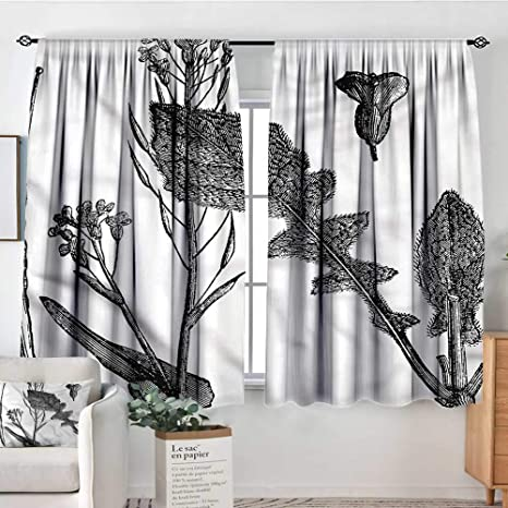 Amazon.com: RenteriaDecor Black and White,Curtains for Bedroom Root ...